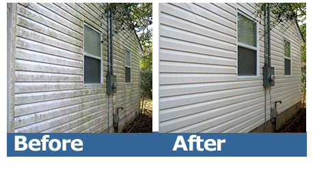 Hot Water Power Washing Before and After
